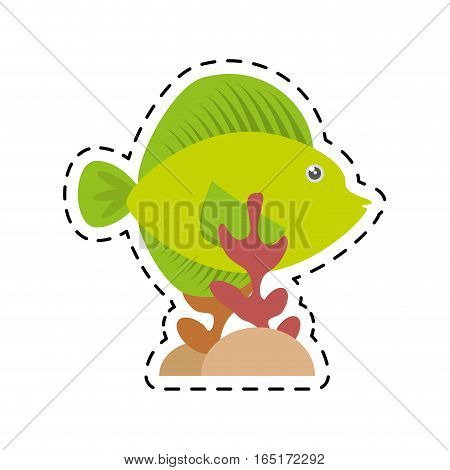 tropical fish sea life coral vector illustration eps 10