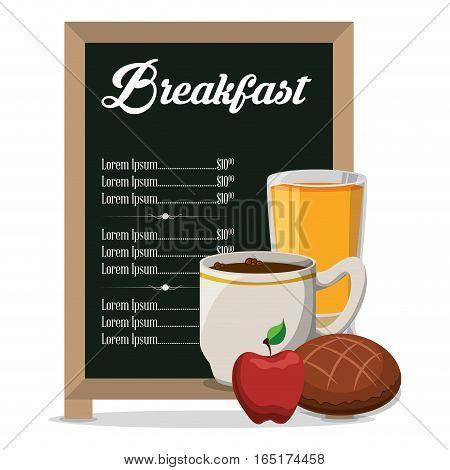restaurant breakfast menu healthy meal vector illustration eps 10