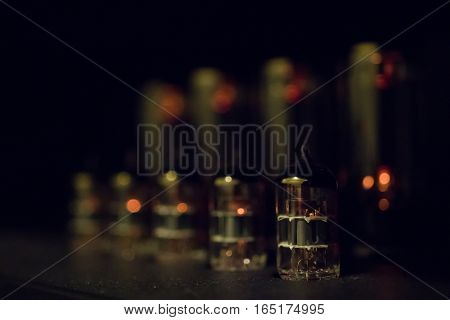 Preamp and power tubes in a guitar amplifier