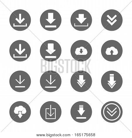 download icons set,vector graphic design Illustration EPS10