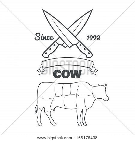 Vintage Butcher Cuts Vector Photo Free Trial