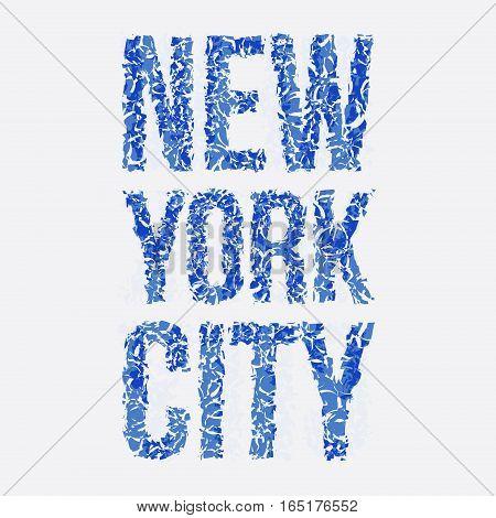 new york typography, t-shirt graphics, vector illustration