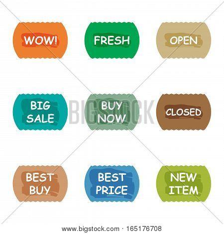 sale promotion tear banner sticker label set,vector Illustration EPS10