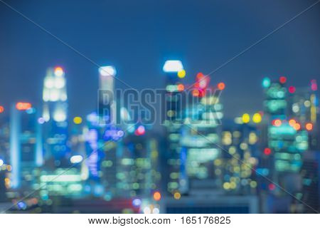abstract vintage light bokeh cityscape - can use to display or montage on product