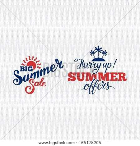 Summer sale logo clearance element vector badges isolated. Some shopping big mega hand drawn collection of labels. Vector set of comic speech bubbles stickers.