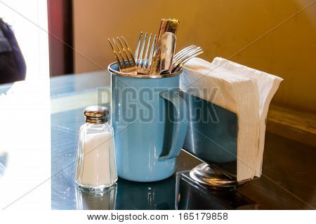 Salt Shaker And Clutery