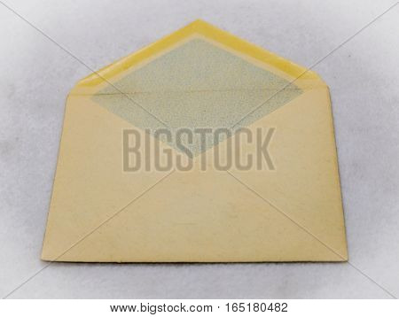 mailing envelope for letters on a light background