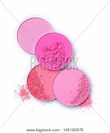 Pink Blush Isolated On White Background