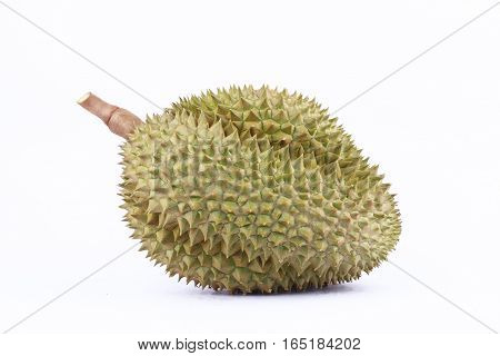 durian  mon thong is king of tropical fruits durian   on white background healthy durian fruit food isolated close up