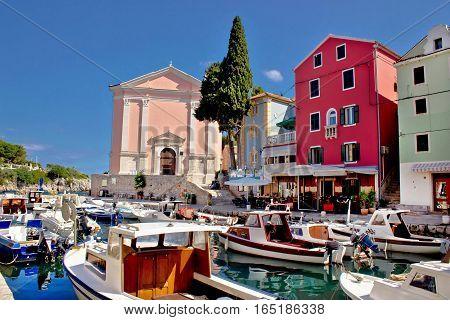 Veli Losinj Harbor And Colorful Architecture
