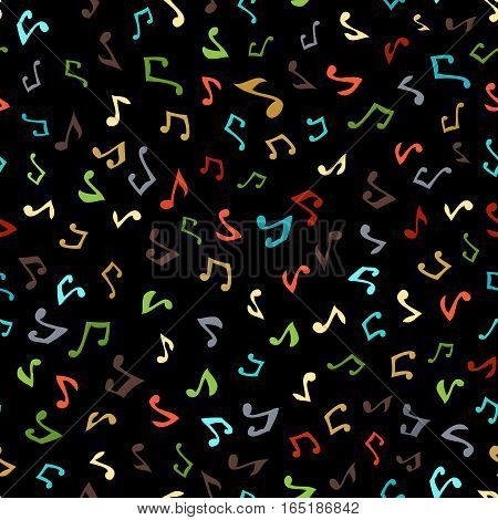 Vector Seamless Music Pattern.