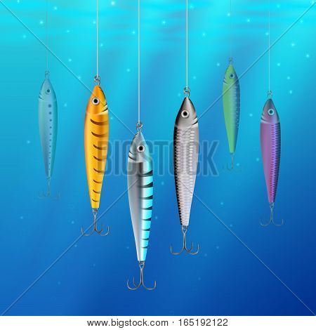 Fishing Lures Background Hooks Underwater Texture 3