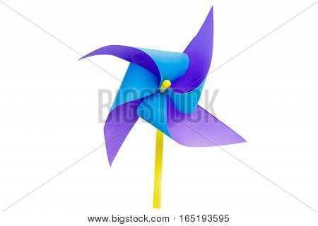 paper windmills isolate on white background with clippingpath