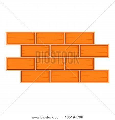 Brick wall icon. Cartoon illustration of brick wall vector icon for web