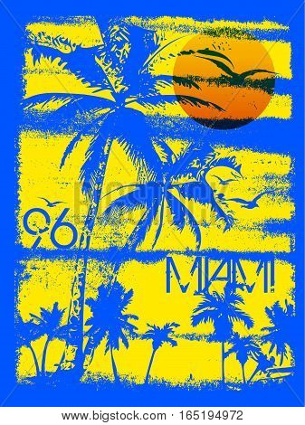 Miami summer tee graphic design fashion style