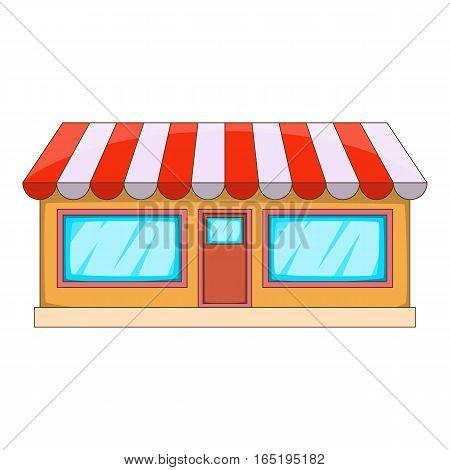 Shop icon. Cartoon illustration of shop vector icon for web