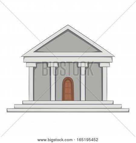 Big building icon. Cartoon illustration of big building vector icon for web