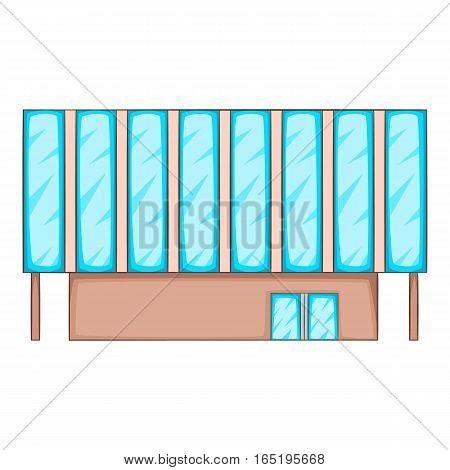 Solar battery building icon. Cartoon illustration of solar battery building vector icon for web