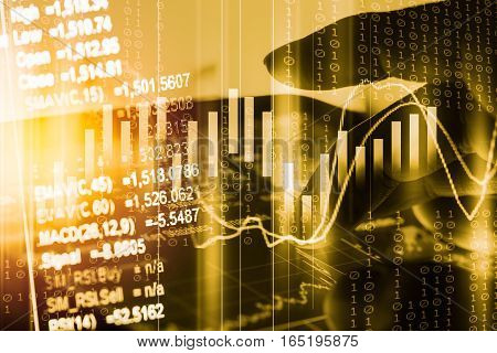 Statistic graph of stock market data and financial analysis. Stock market graph. Stock market earning. Stock market indicator. Stock market financial graph. Stock market analysis. Financial statistic analysis. Financial investment graph.