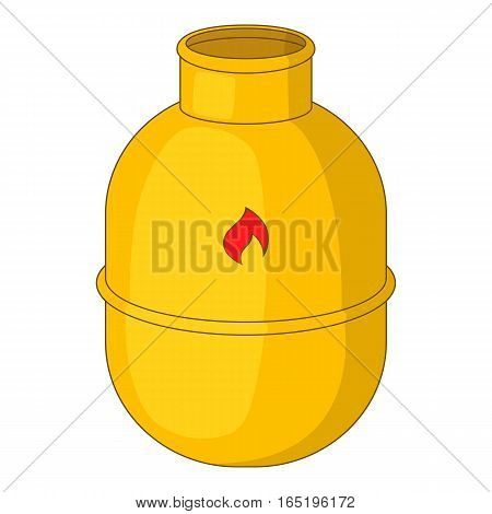 Gas bottle icon. Cartoon illustration of gas bottle vector icon for web