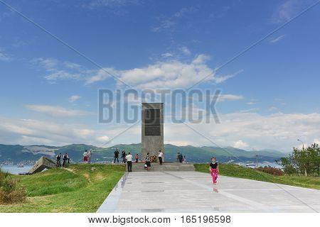 NOVOROSSIYSK RUSSIA - MAY 08.2016: memorial