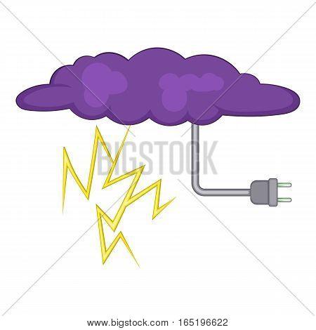 Lightning icon. Cartoon illustration of lightning vector icon for web