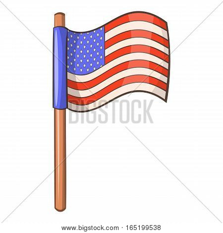 American flag icon. Cartoon illustration of american flag vector icon for web