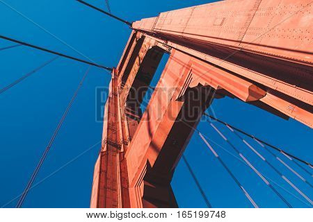 Golden Gate Bridge in San Francisco in USA