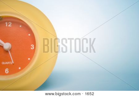Orange Yellow Clock 3