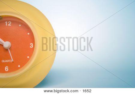 Orange Yellow Clock 3