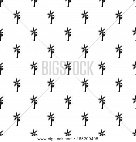 Two palm leafs pattern. Simple illustration of two palm leafs vector pattern for web