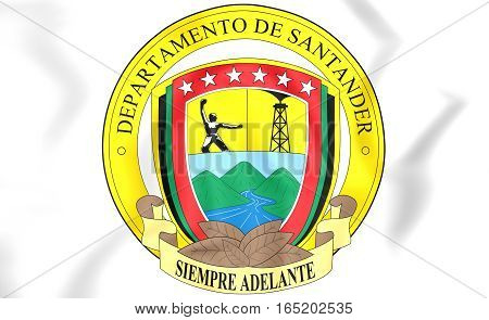 Santander Department Coat Of Arms, Colombia. 3D Illustration.