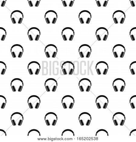 Headphones pattern. Simple illustration of headphones vector pattern for web