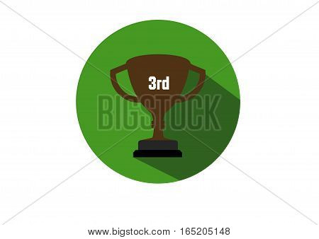 Trophy Cup Champion 3rd Winner  flat illustration