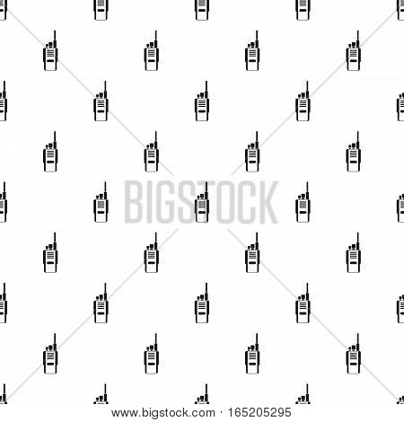 Portable radio transceiver pattern. Simple illustration of portable radio transceiver vector pattern for web