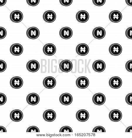 Coin with Nairas sign pattern. Simple illustration of coin with Nairas signvector pattern for web