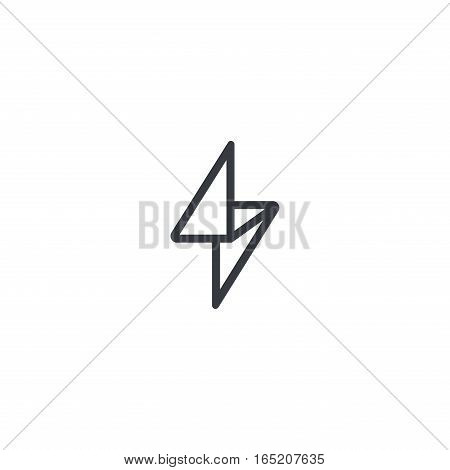Flash Logo design vector template Linear style. Thunderbolt Geometric symbol. Energy Power electric speed creative Logotype concept.