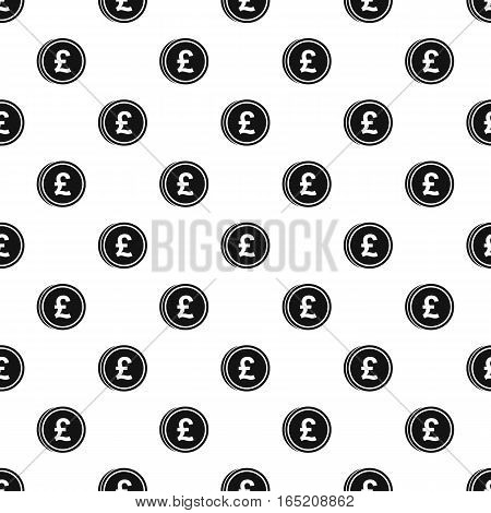 Coin with Italian lira sign pattern. Simple illustration of coin with Italian lira sign vector pattern for web