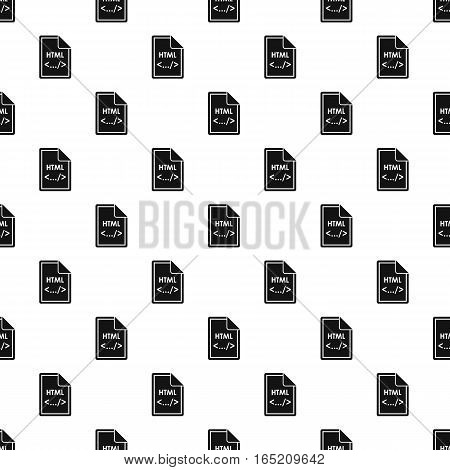 HTML file pattern. Simple illustration of HTML file vector pattern for web
