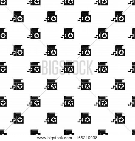 Jack in the box toy pattern. Simple illustration of jack in the box toy vector pattern for web