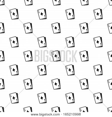 Ace of diamonds pattern. Simple illustration of ace of diamonds vector pattern for web