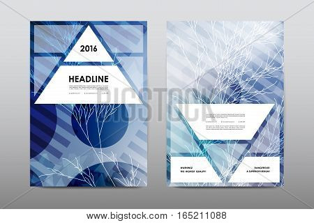 Brochure layout template flyer design vector, Magazine booklet cover abstract background Poster leaflet