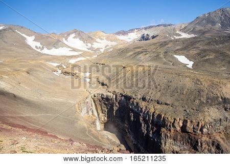 River Mutnaja near vulcano Mutnovsky at Kamchatka Peninsula, Russia
