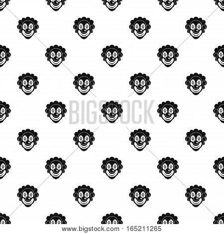 Clown head pattern. Simple illustration of clown head vector pattern for web