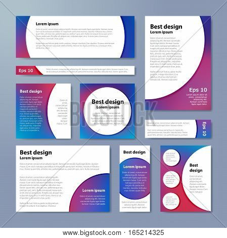 Purple Corporate Identity Design Template Circles. Vector Company Style For Brandbook