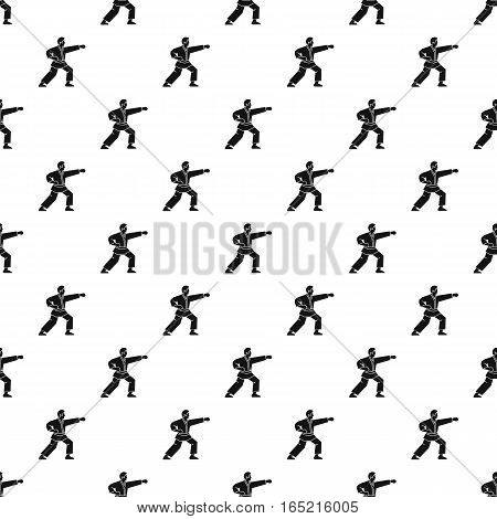 Karate fighter pattern. Simple illustration of karate fighter vector pattern for web