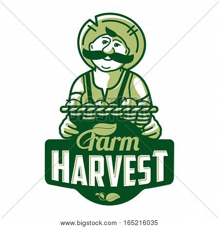 Farm Logo With A Farmer