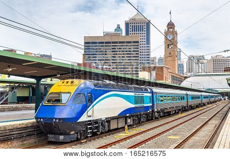 Express train to Canberra at Sydney Central Station - Australia, New South Wales