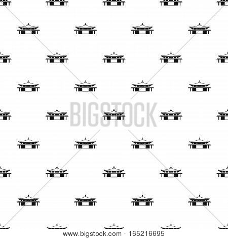 Pagoda pattern. Simple illustration of pagoda vector pattern for web