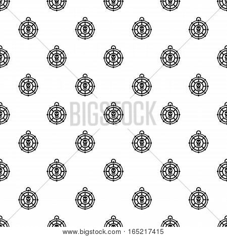 Human skull amulet pattern. Simple illustration of human skull amulet vector pattern for web